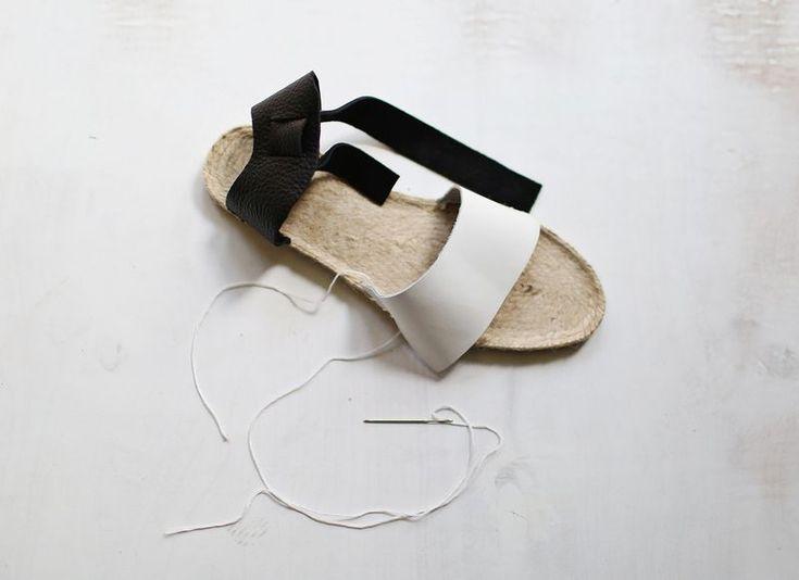 DIY sandals using Dritz Espadrilles soles. #sewing