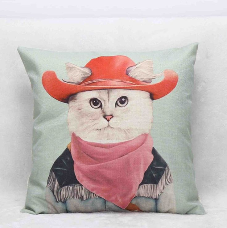 grumpy cat wedding invitations%0A Cat With Red Hat Pillow Case