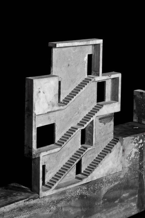 row house | casa entre mitgeres - sant cugat - josep ferrando - model