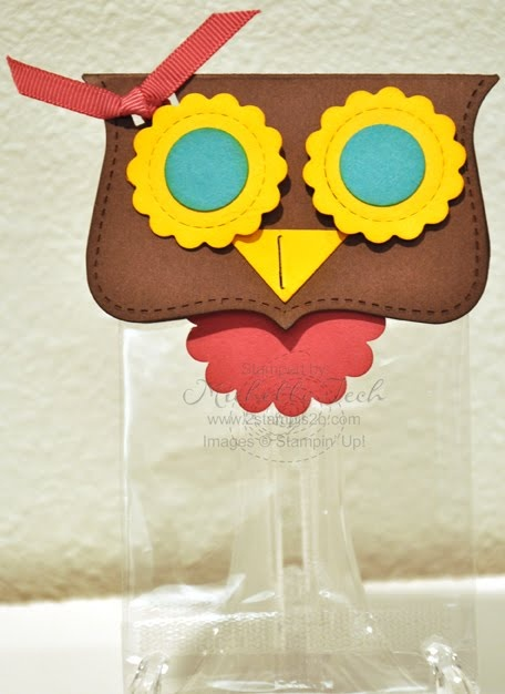 Stampin Up Owl Treat Bags with Summer Sun eyes