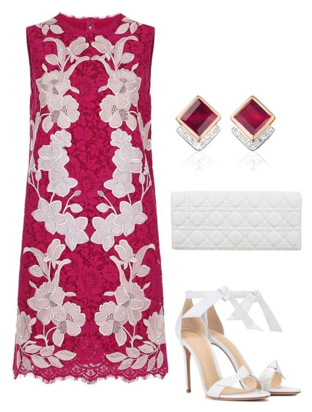 """""""Untitled #692"""" by lovelifesdreams on Polyvore featuring Dolce&Gabbana, Alexandre Birman, Christian Dior and Monica Vinader"""