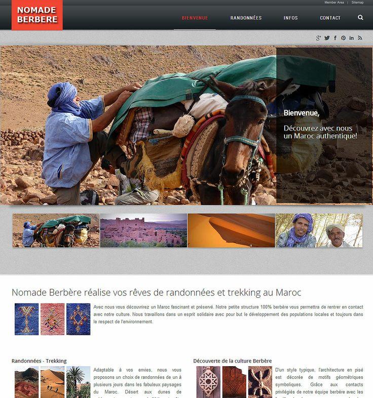 Le site est enfin en ligne. Vous pouvez désormais nous retrouver sur http://nomadeberbere.com/  . N'hésitez pas à nous faire un retour positif ou négatif.