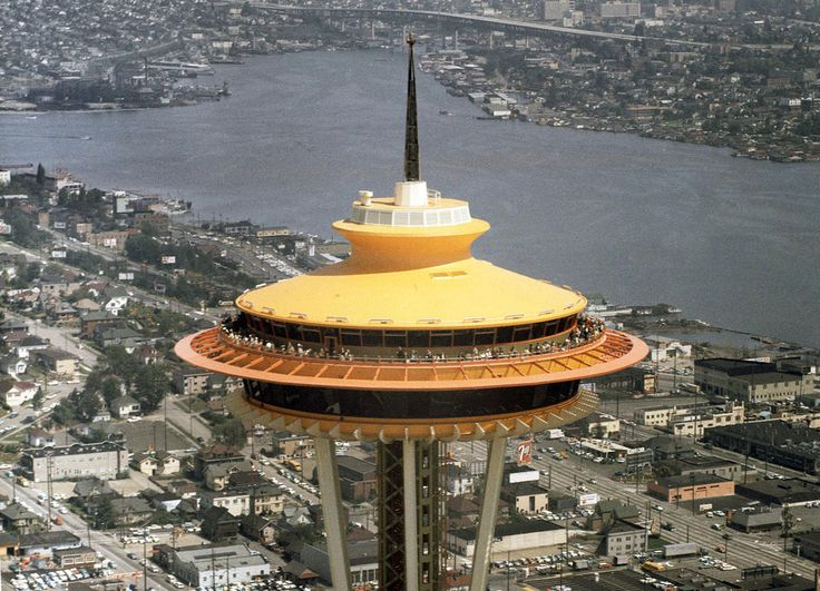 50 Years Ago: The World in 1962Spaces Needle, Space Needle, Years Ago, Seattle Spaces, 50Th Anniversaries, Galaxies Gold, Aerial View, 50 Years, Surroundings Area