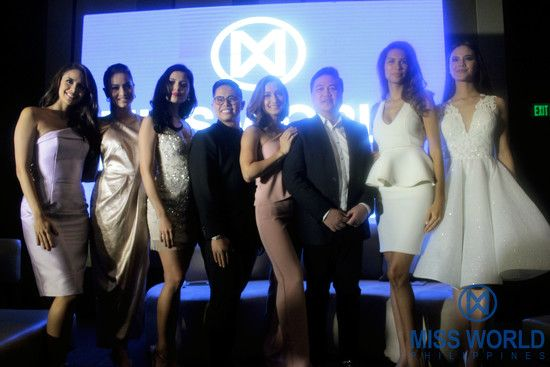 Miss World Philippines Media Conference held at New World Makati Hotel with Miss World 2013 Megan Young, Miss World Philippines 2012 Queenie Rehman, Miss World Philippines 2015 Hillarie Parungao, Miss World Philippines General Manager Bessie Besana, Celebrity Host Iya Villania, Miss World Philippines Franchise Owner Arnold Vegafria, Miss World 2011 1st Princess Gwendoline Ruais and Miss World 2016 3rd Princess Catriona Gray,