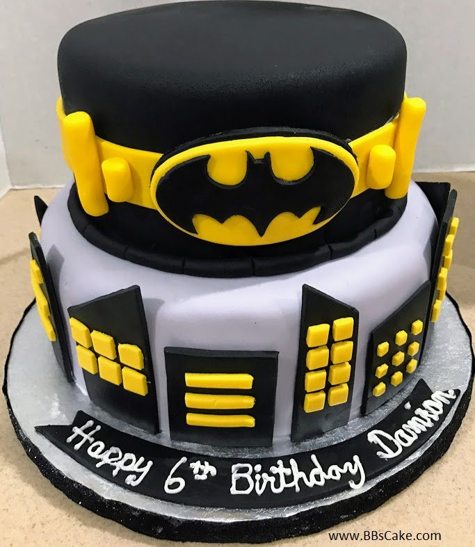 Miraculous 2 Tier Batman And Gotham City Birthday Cake Unique Cupcakes Funny Birthday Cards Online Sheoxdamsfinfo