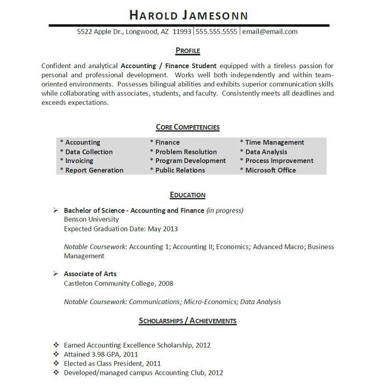 Best 25+ Student resume ideas on Pinterest Resume help, Resume - finance student resume