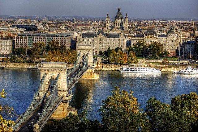 Budapest | Széchenyi Chain Bridge. read more http://www.budpocketguide.com #Budapest