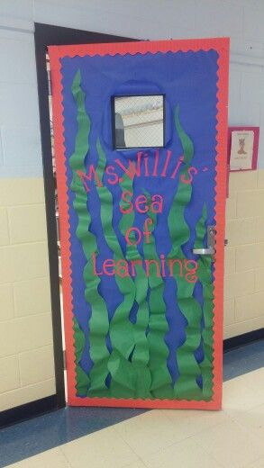 Under Water Sea Theme Bulletin Board Door Classroom Ocean Theme