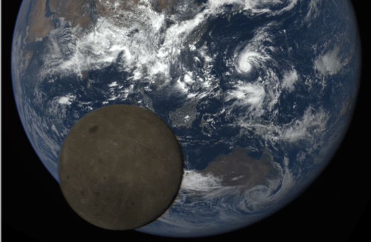 A NASA camera on board the Deep Space Climate Observatory (DSCOVR) satellite captured a rare lunar transit across the face of a sunlit Earth. The images,..
