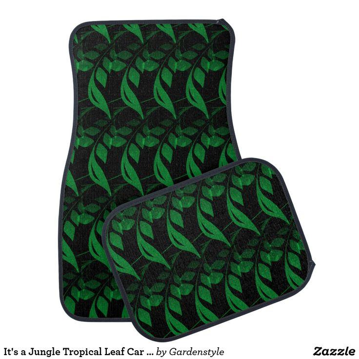 It's a Jungle Tropical Leaf Car Mats