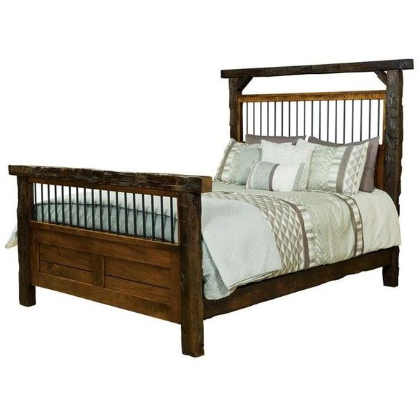 Handcrafted Pine Queen Size Bed With Headboard
