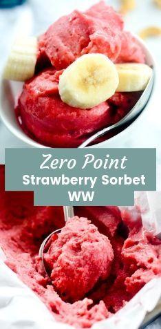 Erdbeer-Bananen-Sorbet mit 4 Zutaten