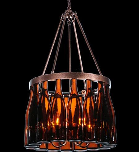Wine bottle chandeliers home lightning feature pinterest bottle wine bottle chandelier - Wine bottles chandelier ...