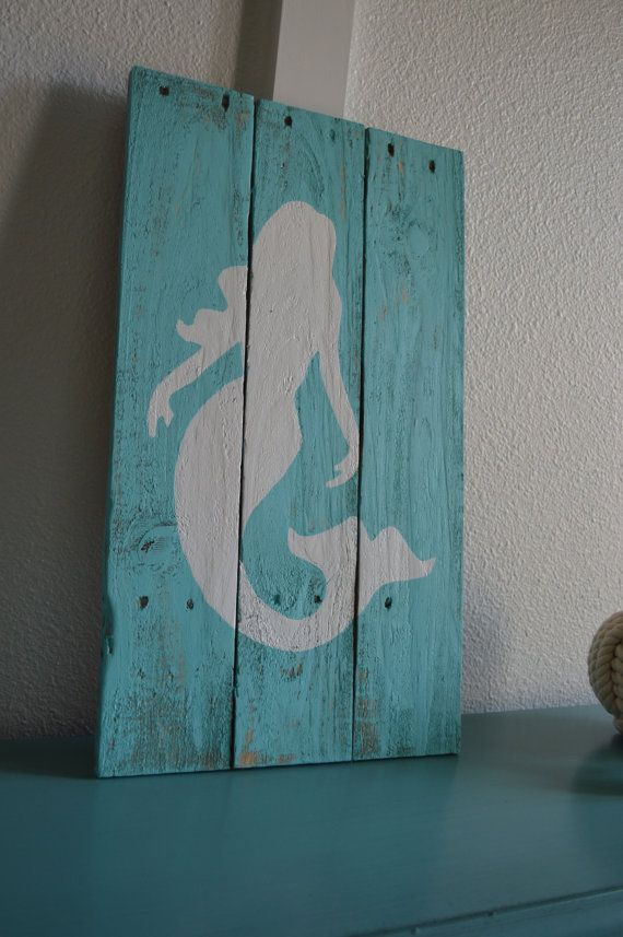 Hey, I found this really awesome Etsy listing at https://www.etsy.com/listing/199463094/handmade-mermaid-wall-hanging-distressed
