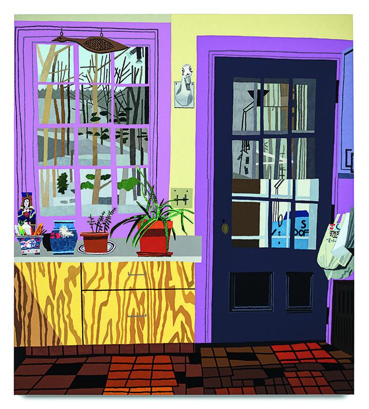 Jonas Wood - Kitchen with Aloe Plant