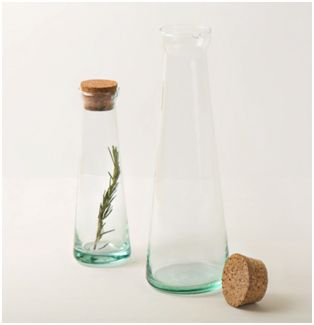Make recycle your buzzword this Earth day and shop this pair of recycled glass oil and vinegar bottles.