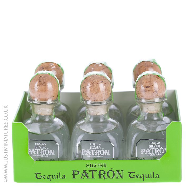 Patron Silver Tequila Miniature 5cl - 6 Pack
