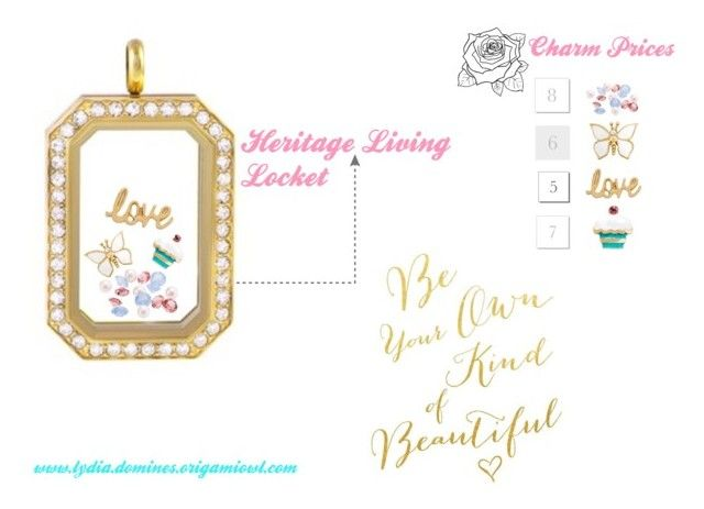 """""""Spring Heritage Living Locket -Origami Owl"""" by lydiadomines on Polyvore"""