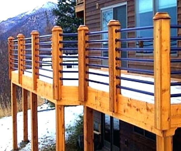 Cheap Deck Railing Ideas Horizontal Porch Railing Inexpensive Deck
