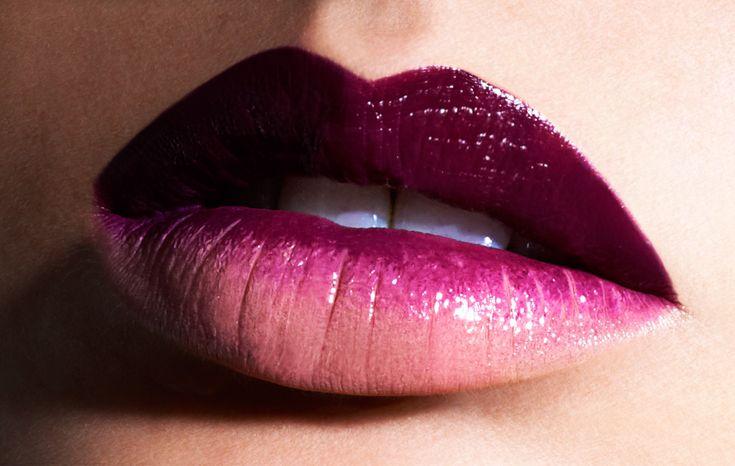 ombre lipstick.