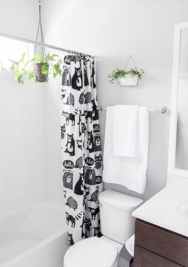 Chic Woodland Themed Kids Bathroom