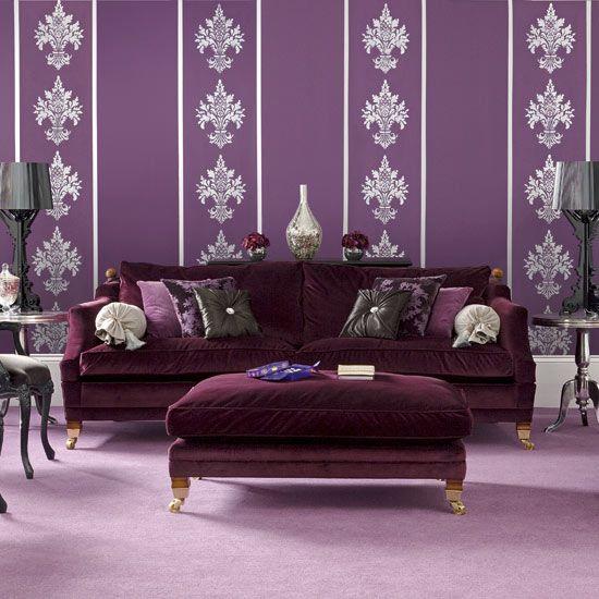 Living Room Decorating Ideas Purple