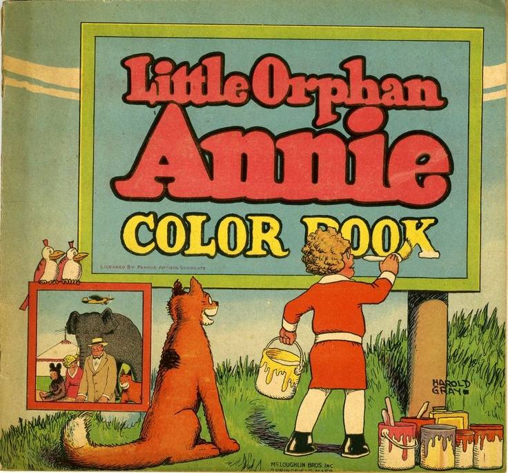 Little orphan annie coloring book 1930 back cover