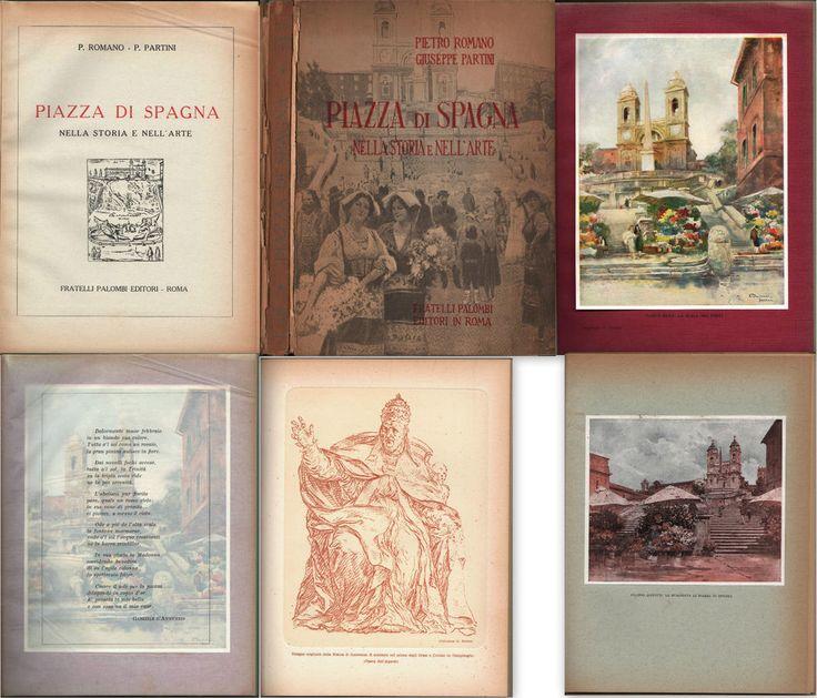 PIAZZA DI SPAGNA NELLA STORIA E NELL ARTE-P.ROMANO-ILL. DANTE RICCI-ROMA-1930 ca