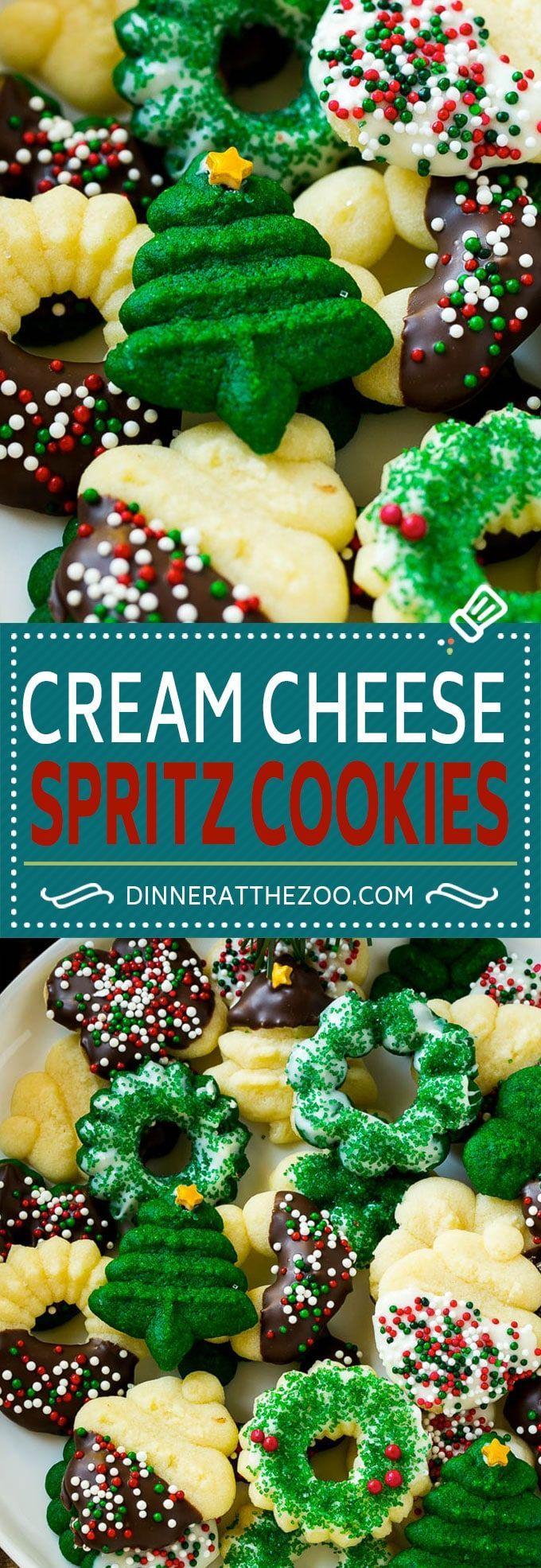 Cream Cheese Spritz Cookie Recipe | Butter Spritz Cookies | Best Spritz Cookies | Holiday Cookies | Christmas Cookies