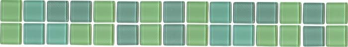 "American Universal Corp.: Catalog - Brittany Glass Border 3/4"" x 3/4"" Series backsplash"