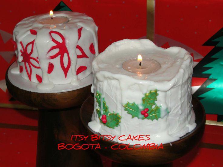 CHRISTMAS CANDLE MINICAKES  https://www.facebook.com/CUPCAKESBOGOTAITSYBITSYCAKES