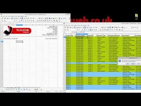 bookkeeping for small business tutorial part 2 - open office calc - invoice template open office