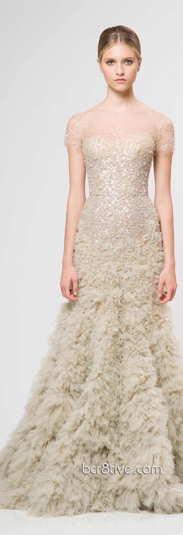 48 best Reem Acra bridal images on Pinterest | Wedding frocks ...