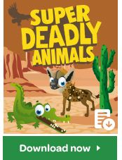 Here's a fun game to play with your Super Animals cards.... but you'll need to watch out for those deadliest animals along the way! Find out how to play here.