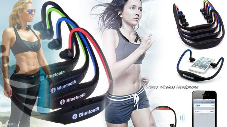 2017 Bluetooth 4.1 Neckband Headphones Earphones with Mic Sports Gym Running Wireless