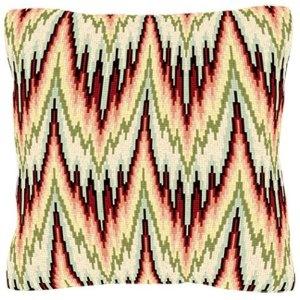 Bargello pattern needlepoint.
