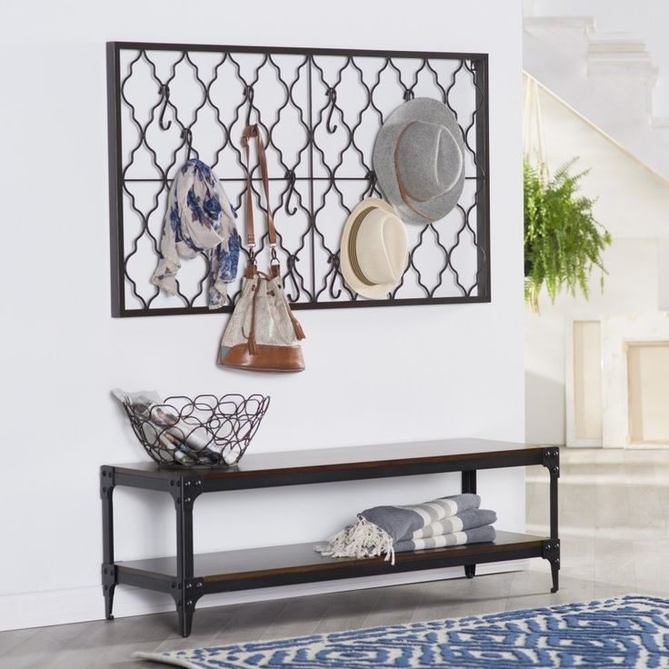 Belham Living Trenton Indoor Bench with Storage Shelf - You've put in a lot of work appointing your home with a clean-lined yet inviting style, so why don't you relax on the Belham Living Trenton...