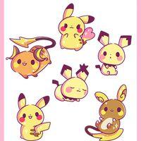 Pikachu Family Sticker Set · Jenni Illustrations · Online Store Powered by Storenvy
