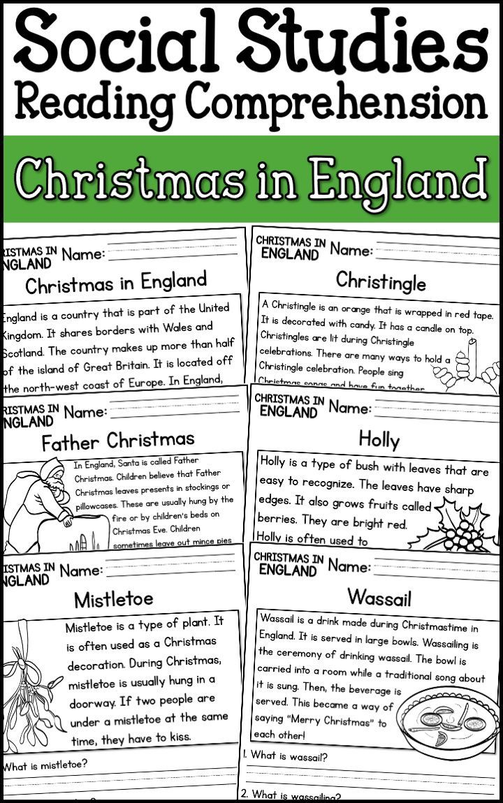 Christmas In England Reading Comprehension Passages K 2 Distance Learning Reading Comprehension Passages Reading Comprehension Comprehension Passage [ 1150 x 720 Pixel ]