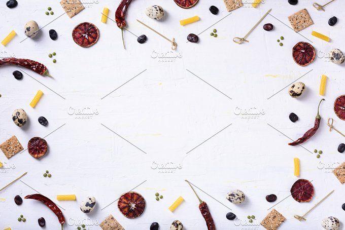 Vegetable and fruit food frame by Iuliia Leonova on @creativemarket