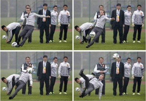 BEIJING - Sometimes, things go wrong even for the best of the best.  David Beckham learned that lesson first hand when he stood on a grassy soccer field in China and wanted to demonstrate his world-renowned free kick.      David Beckham, who is in China on ...