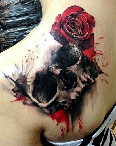 skulls and roses tattoos - Google Search I'm in love with this