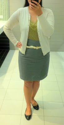 #ootd - yellow and ivory (pencil skirt edition) | Perfecting My Closet | #ootd