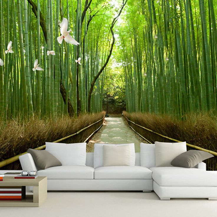 Best 25 sala de bambu ideas on pinterest bambu na sala for Bamboo mural wallpaper