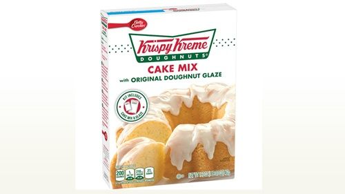 Krispy Kreme Doughnut Cake Mix - BEST boxed cake mix I've ever made! I substituted milk for the water, butter for the vegetable oil, and added an extra egg to make the batter. It was a HUGE hit!