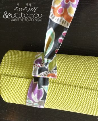 DIY Yoga Mat Strap Tutorial. I love this. Easy project with photographed steps. Super cute!