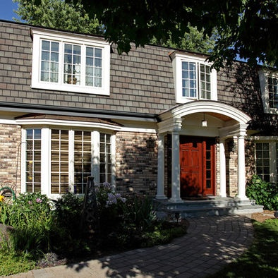 Mansard roof design pictures remodel decor and ideas home exteriors pinterest more - Engaging home exterior decoration using mansard roof design ...