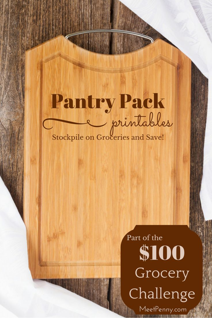 $100 Grocery Challenge Pantry List - Free printables to help you keep your grocery budget to just $100 a week.