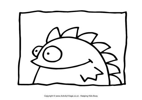 Rock Monster Coloring Page Coloring Pages