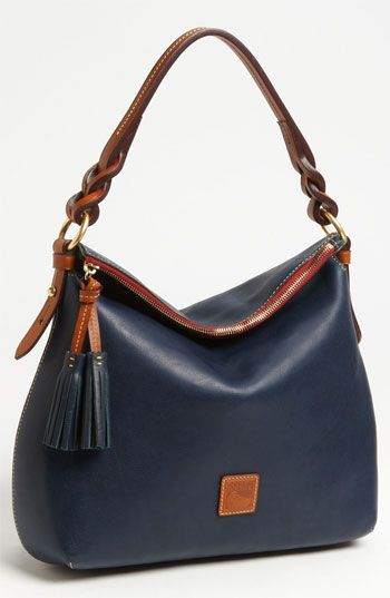 "Dooney & Bourke 'Twist Strap' Hobo available at #NordstromDimensions: 14 1/2""W x 10 1/2""H x 5""D. (Measures large.)"